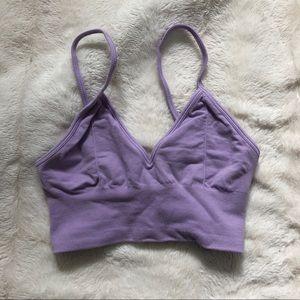 Alo delight bralette size small purple
